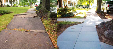 before/after photo via rubbersidewalks inc